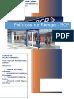 Microfinanzas - Politicas de Riesgo BCP