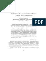 El Teorema de Incompletitud de Gödel