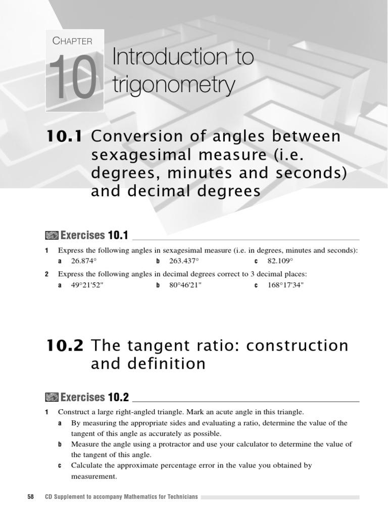 12supp  Chapter 10   Trigonometric Functions   Trigonometry