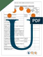 Lista de Chequeo Actividades Diseno de Proyectos 2015-II