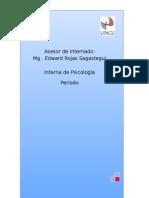 Plan Operativo - Internado I. Psicología