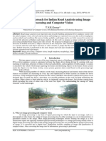 A Real Time Approach for Indian Road Analysis using Image Processing and Computer Vision