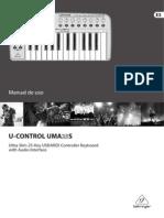 Manual UMA25S Beringher