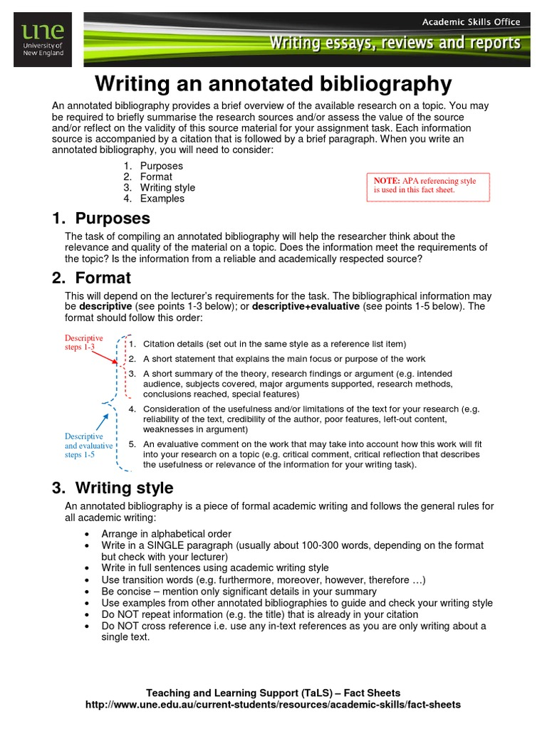 how to write an annotated bibliography  bibliography