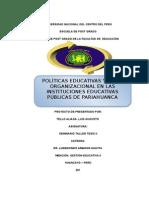 POLITICAS EDUCATIVAS Y CLIMA ORGANIZACIONAL