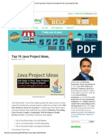 Top 10 Java Project Idea