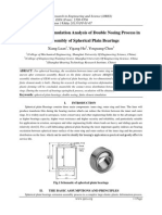Finite Element Simulation Analysis of Double Nosing Process in the Assembly of Spherical Plain Bearings