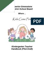Kindergarten Teacher Handbook