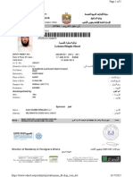 UAE visit visa sample