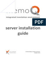 MemoQ Server Installation Guide