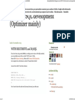 About MySQL Development (Optimizer Mainly)- WITH RECURSIVE and MySQL