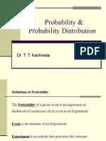Probability & Probability Distribution