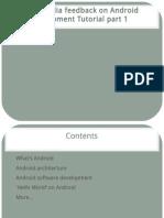 SynapseIndia Feedback on Android Development Tutorial Part 1