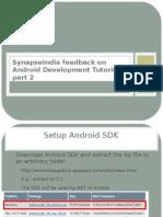 SynapseIndia Feedback on Android Development Tutorial Part 2