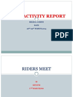 North Field Activity Report