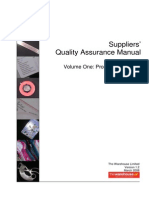 Suppliers Quality Assuranace Manual
