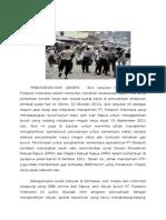 Insiden Penembakan Terhadap Aksi Buruh PT