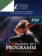 Festivalbroschüre 2015 Cello Akademie Rutesheim