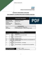 Antibiotic Prescribing Guidelines October 2014