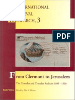 (International Medieval Research 3) a.v. Murray-From Clermont to Jerusalem_ the Crusades and Crusader Societies, 1095-1500 _ Selected Proceedings of the International Medieval Congress, University of