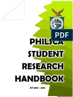 Philsca Student Research Handbook