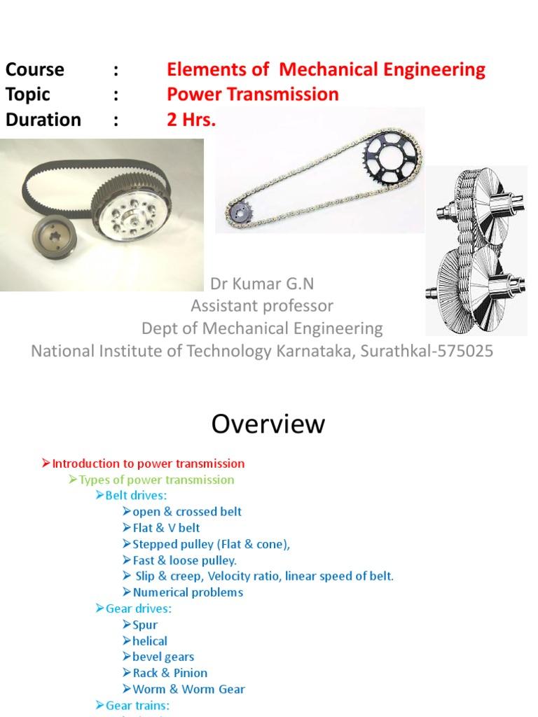 Power Transmission pdf   Gear   Belt (Mechanical)