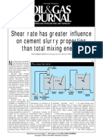 Shear Rate Has Greater Influence on Cement Slurry Properties