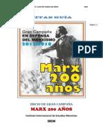 Textos guía para el inicio de la campaña M200A.