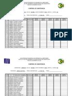 Control de Asistencia Gimnasia 2015-i