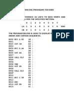 Interfacing Programs for 8085