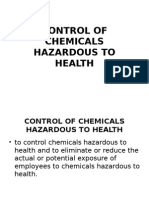 Control of Chemicals
