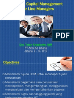 Human Capital Management for Line Managers - PT. Aetra Air Jakarta