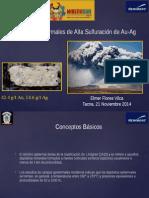 Sistemas Epitermales de Alta Sulfuracion de Au-Ag - Tacna 2014