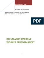 Do Salary Improve the Performance