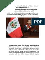 Presidente Humala Acabe Con La Discriminación Del Técnicos Asistencial Egresado de Un IST