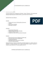 Informe Mantenimiento de Pc