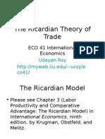 Ricardian Theorm Analysis