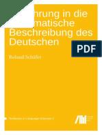 Einfuehrung in Die Grammatische Beschreibung Des Deutschen