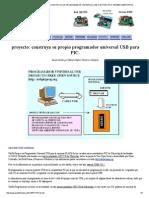 Usbpicprog Proyecto Construya Un Programador Universal Usb Icsp Para Pics 18f2550 Usbpicprog