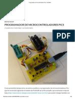 Programador de Microcontroladores Pics _ Inventable