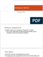 Business Marketing Plan Template - 3