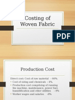 Costing of Fabric