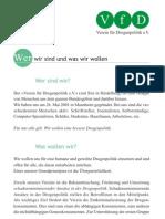 Wer wir sind, was wir wollen - VfD Infoflyer