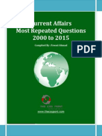 Most Repeated Question  Current Affairs - 2000 to 2015.pdf