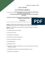 Ley 16.045.Actividad Laboral. Discriminación Sexual (2)