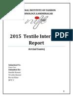 arvind mills santej internship report