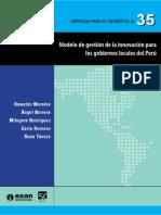 Modelo Gestion Innovacion Gobiernos Locales Peru