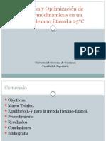 Comparación y Optimización de Modelos Termodinámicos en Un Mezcla de Hexano-Etanol