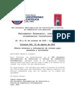Circular 004 Información Hotelera y de Interés General - XVI Encuentro Iberoamericano de Cementerios Patrimoniales