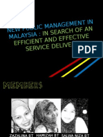 New Public Management in Malaysia